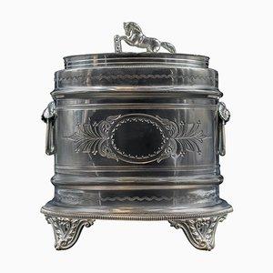 Scatola placcata in argento di Domney e Brown Birmingham, Inghilterra, XIX secolo