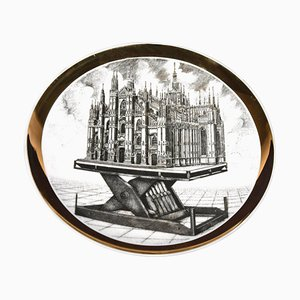 Plate for Rin and C. by Piero Fornasetti, 1975