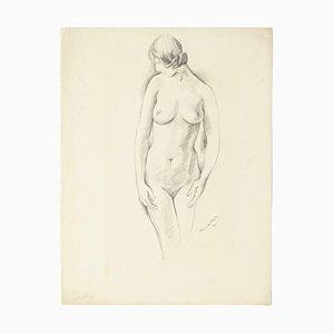 Pierre Guastalla, Nude, 20th Century, Pencil Drawing