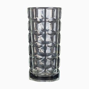 Vintage Polyhedral Glass Vase, Italy, 1970s