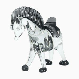 Vintage Pferd aus Muranoglas, 1980er
