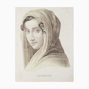 Clotilde's Portrait, 20. Jahrhundert, Lithographie