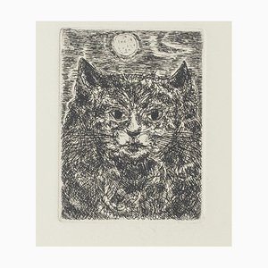 Giampaolo Berto, Katze, 20. Jahrhundert, Radierung