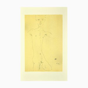 nach Egon Schiele, Stehender Männlicher Akt, 2000er, Lithographie