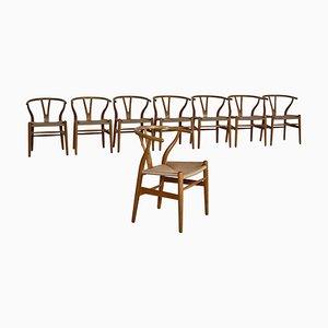 Wishbone Chairs by Hans J. Wegner for Carl Hansen, 1950s, Set of 8