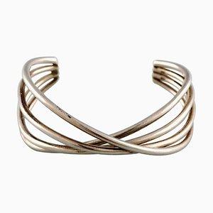 Bracelet Modèle Double Alliance en Argent Sterling par Georg Jensen