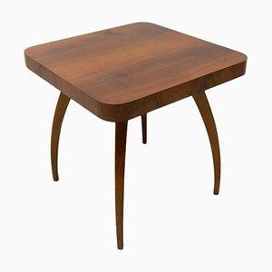 Walnut Spider Table H-259 by Jindrich Halabala, Czechoslovakia, 1950s