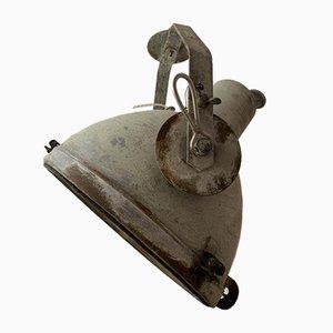 Große Industrielle Vintage Dreh-Hängelampe aus Metall