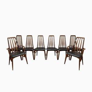 Chaises de Salon Eva en Teck par Niels Koefoed pour Koefoed Hornslet, 1960s, Set de 8