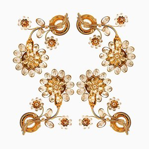 Flower Crystal Sconce from Palwa, 1960s