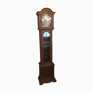 Antique Longcase Clock in Oak from Hermle