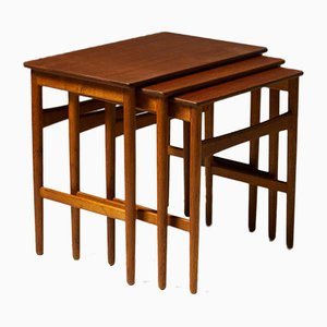 Nesting Tables by Hans J. Wegner for Andreas Tuck, Denmark, 1950s, Set of 3