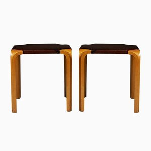 Model S601 Fan-Legged Stools by Alvar Aalto for Artek, 1954, Set of 2