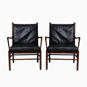 Modell PJ 149 Colonial Stühle von Ole Wanscher für Poul Jeppesen, 1949, 2er Set
