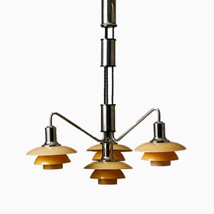 Pulley Chandelier by Poul Henningsen for Louis Poulsen, 1930s