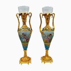 Antique Sèvres Porcelain Vases, Set of 2