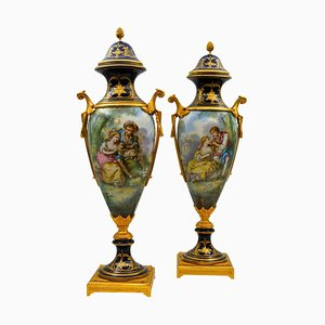 Antike Sèvres Porzellanvasen, 2er Set