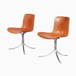 PK9 Chairs by Poul Kjaerholm for Kold Christensen, Denmark, 1970s, Set of 2
