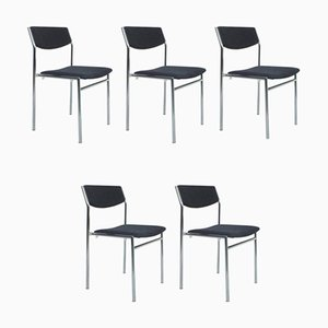 Dining Chairs by Gijs van der Sluis, the Netherlands, 1960s, Set of 5