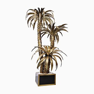 Brass Palm Tree Floor Lamp, 1960s