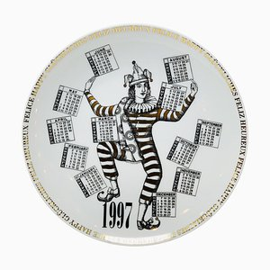 Calendar Porcelain Plate by Piero Fornasetti, 1997