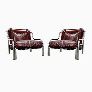 Chaises Stringa par Gae Aulenti pour Poltronova, 1970s, Set de 2