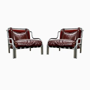 Stringa Chairs by Gae Aulenti for Poltronova, 1970s, Set of 2