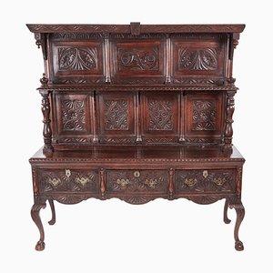 19th Century Carved Oak Dresser