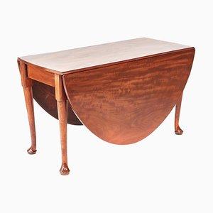 Large Antique George III Mahogany Drop Leaf Dining Table