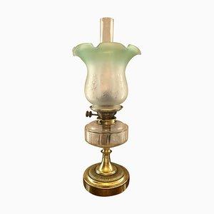 19th Century Victorian Brass Oil Lamp