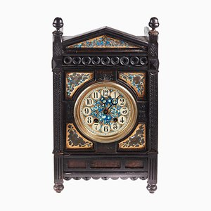 19th Century Victorian Ebonised Aesthetic Movement Mantel Clock