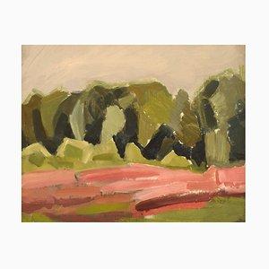 Harald Fredriksson, Sweden, Modernist Landscape, Oil on Canvas, 1960s