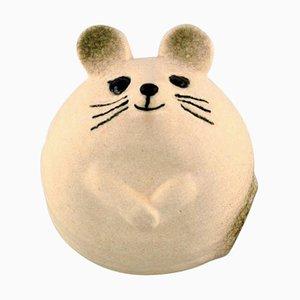 Mouse in Glazed Ceramic by Lisa Larson for Gustavsberg