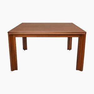 Quadratischer Esstisch aus Nussholz von Afra & Tobia Scarpa für Molteni, 1970er