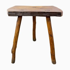 French Brutalist Milking 3-Leg Stool by F. Guyot, 1960s