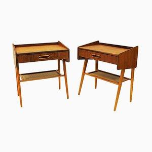 Mid-Century Teak Night or Side Tables, Sweden, 1950s, Set of 2