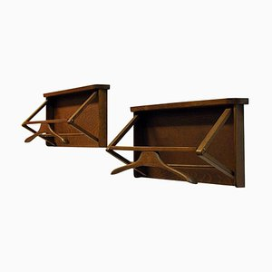 Swedish Wall Mounted Dark Wood Valet by Per Granebo, 1970s