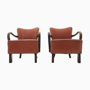 Art Deco Armchairs by Jindrich Halabala, 1920s, Set of 2