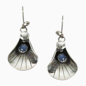 Ohrringe aus Silber & Chalcedon von Alton, 1960er, 2er Set
