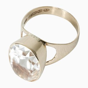 Gold and Rock Crystal Ring by Tauno Suhonen, 1969