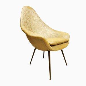 Mid-Century Italian Gold Lounge Chair, 1960s