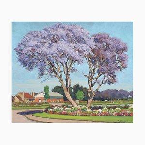Paul Léon Bléger, Purple Trees of Madagascar, 1930s, Gemälde
