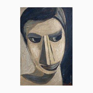 Chartier, Portrait eines modernen Mannes, 1960er, Öl an Bord