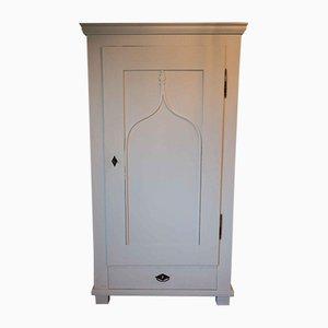 Antique Biedermeier White Wardrobe