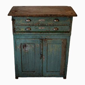 Vintage Turquoise High Cabinet