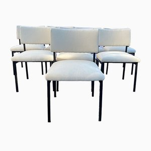 Mid-Century Model 764 Dining Chairs by Joseph André Motte from Steiner, Set of 8