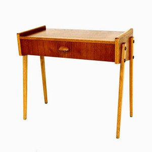 Teak & Oak Nightstand, 1960s