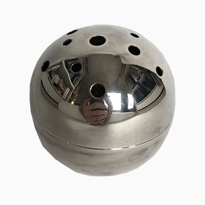 Modernist Mars Silver Plated Metal Vase by Lino Sabattini for Christofle, 1958