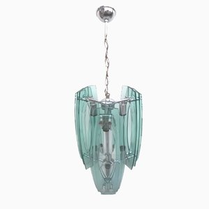 Lámpara colgante italiana de Veca, años 60