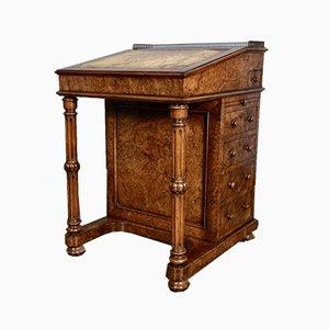 Antiker Walnuss Davenport Schreibtisch